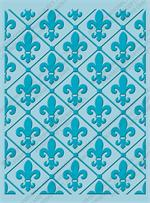Fleur De Lis in Diamond pattern