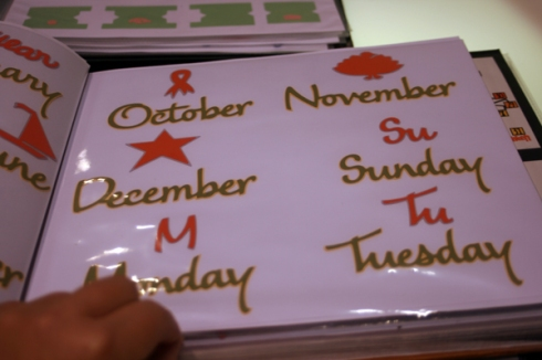 More Months and thier icons + days of the week and thier Abreviations