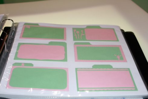 Recipe Cards with embelishments and icons for the food catagories