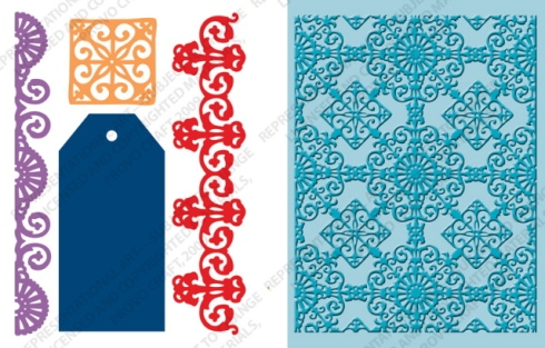 Ornamental Ironwork Tag Cutting/Embossing Combo